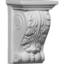 "Decorative Polyurethane Corbels Ekena 3 7/8"" W x 2 3/4"" D x 5 7/8"" H Moldings & Millwork Corbels Type 150367831 in Canada"