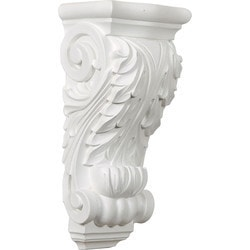 "Decorative Polyurethane Corbels Ekena 5 1/2"" W x 3 7/8"" D x 11 3/4"" H Moldings & Millwork Corbels Type 150368341 in Canada"