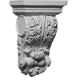 "Decorative Polyurethane Corbels Ekena 6 1/2"" W x 3 5/8"" D x 10"" H Moldings & Millwork Corbels Type 150368461 in Canada"
