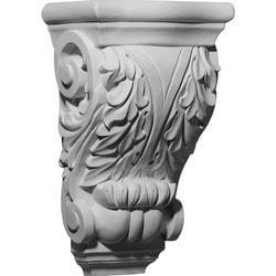 "Decorative Polyurethane Corbels Ekena 8 5/8"" W x 6"" D x 13 7/8"" H Moldings & Millwork Corbels Type 150368811 in Canada"
