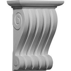 "Decorative Polyurethane Corbels Ekena 6 1/2"" W x 3 3/8"" D x 9"" H Moldings & Millwork Corbels Type 150368451 in Canada"