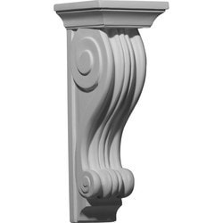 "Decorative Polyurethane Corbels Ekena 5"" W x 6"" D x 14"" H Moldings & Millwork Corbels Type 150368411 in Canada"