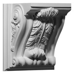 "Decorative Polyurethane Corbels Ekena 9 5/8"" W x 7 3/4"" D x 11"" H Moldings & Millwork Corbels Type 150368861 in Canada"