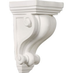 "Decorative Polyurethane Corbels Ekena 4"" W x 4"" D x 7 1/2"" H Moldings & Millwork Corbels Type 150368081 in Canada"