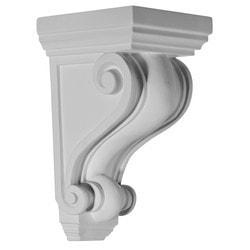 "Decorative Polyurethane Corbels Ekena 5 1/4"" W x 5 1/4"" D x 9 1/2"" H Moldings & Millwork Corbels Type 150368391 in Canada"