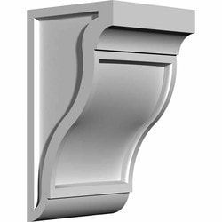 "Decorative Polyurethane Corbels Ekena 6"" W x 10 1/8"" D x 18"" H Moldings & Millwork Corbels Type 150367191 in Canada"