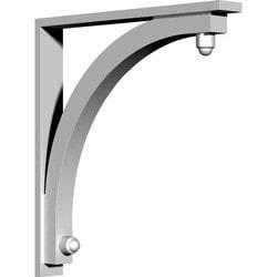 "Decorative Polyurethane Corbels Ekena 3 1/2"" W x 28"" D x 30"" H Moldings & Millwork Corbels Type 150366901 in Canada"