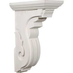 "Decorative Polyurethane Corbels Ekena 6"" W x 11"" D x 16 1/4"" H Moldings & Millwork Corbels Type 150368561 in Canada"