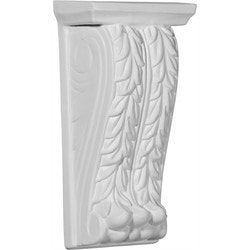 "Decorative Polyurethane Corbels Ekena 4 3/4"" W x 3"" D x 9 7/8"" H Moldings & Millwork Corbels Type 150368071 in Canada"