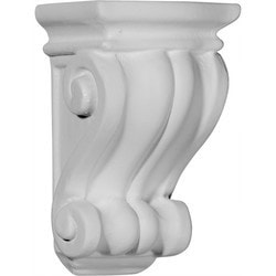 "Decorative Polyurethane Corbels Ekena 3 1/8"" W x 3"" D x 5 1/4"" H Moldings & Millwork Corbels Type 150367901 in Canada"