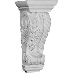 "Decorative Polyurethane Corbels Ekena 5 3/4"" W x 4 3/4"" D x 12 3/8"" H Moldings & Millwork Corbels Type 150368361 in Canada"