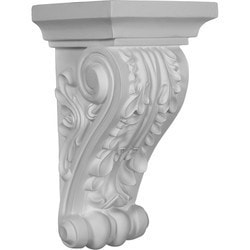 "Decorative Polyurethane Corbels Ekena 5 1/2"" W x 5 3/8"" D x 10 5/8"" H Moldings & Millwork Corbels Type 150368421 in Canada"