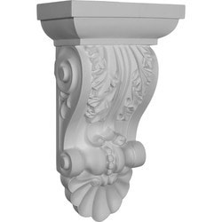 "Decorative Polyurethane Corbels Ekena 8 1/2"" W x 5"" D x 14 1/2"" H Moldings & Millwork Corbels Type 150368981 in Canada"