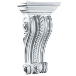 "Decorative Polyurethane Corbels Ekena 9 1/2"" W x 5 1/2"" D x 17 3/8"" H Moldings & Millwork Corbels Type 150368871 in Canada"