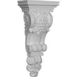"Decorative Polyurethane Corbels Ekena 6 3/4"" W x 3 1/2"" D x 13 3/4"" H Moldings & Millwork Corbels Type 150368581 in Canada"