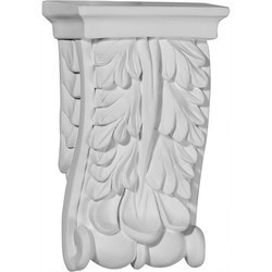 "Decorative Polyurethane Corbels Ekena 3 1/8"" W x 1 1/2"" D x 5 1/8"" H Moldings & Millwork Corbels Type 150367911 in Canada"