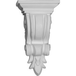 "Decorative Polyurethane Corbels Ekena 4 3/8"" W x 3 1/8"" D x 7 7/8"" H Moldings & Millwork Corbels Type 150368191 in Canada"
