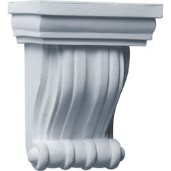 "Decorative Polyurethane Corbels Ekena 4 3/4"" W x 3 1/8"" D x 6 1/4"" H Moldings & Millwork Corbels Type 150368161 in Canada"