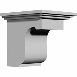 "Decorative Polyurethane Corbels Ekena 4"" W x 6"" D x 6"" H Moldings & Millwork Corbels Type 150366911 in Canada"