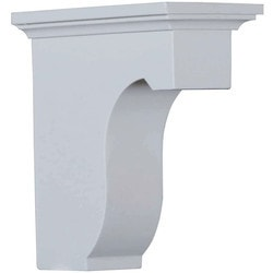 "Decorative Polyurethane Corbels Ekena 2 7/8"" W x 6"" D x 6"" H Moldings & Millwork Corbels Type 150367091 in Canada"