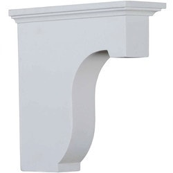 "Decorative Polyurethane Corbels Ekena 2 7/8"" W x 8"" D x 8"" H Moldings & Millwork Corbels Type 150367331 in Canada"