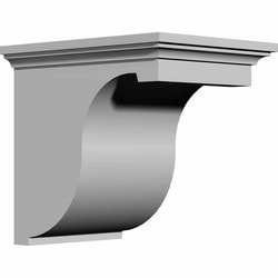 "Decorative Polyurethane Corbels Ekena 8 7/8"" W x 12"" D x 12"" H Moldings & Millwork Corbels Type 150367531 in Canada"