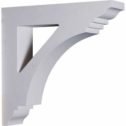 "Decorative Polyurethane Corbels Ekena 4"" W x 16"" D x 16"" H Moldings & Millwork Corbels Type 150367601 in Canada"