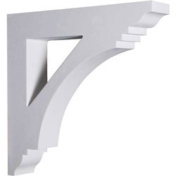 "Decorative Polyurethane Corbels Ekena 4"" W x 20"" D x 20"" H Moldings & Millwork Corbels Type 150367661 in Canada"