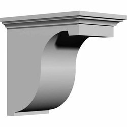 "Decorative Polyurethane Corbels Ekena 6 7/8"" W x 12"" D x 12"" H Moldings & Millwork Corbels Type 150367521 in Canada"