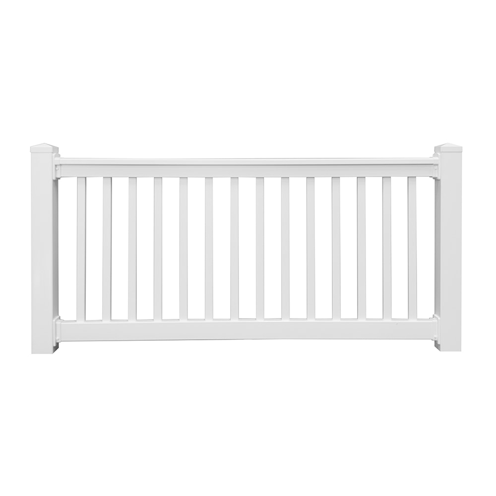 Vinyl Fence Wholesaler Deck Railings White Sefton Straight Railing Kit 36 X 72 Commercial