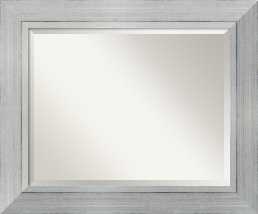 Amanti art romano silver wall mirror large 35 x 29 inch for Big silver wall mirrors