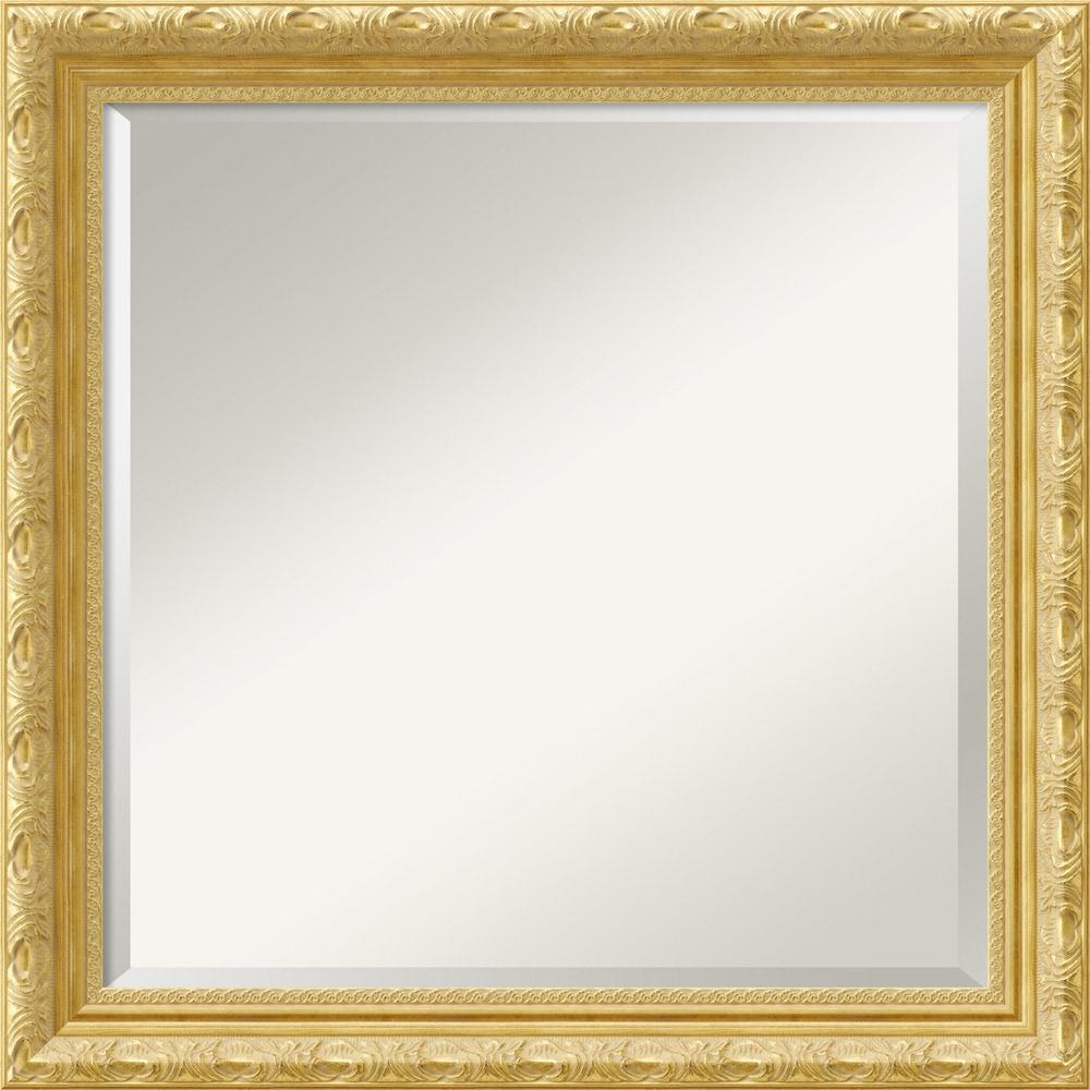 Gold Square Wall Decor : Amanti art versailles gold wall mirror square