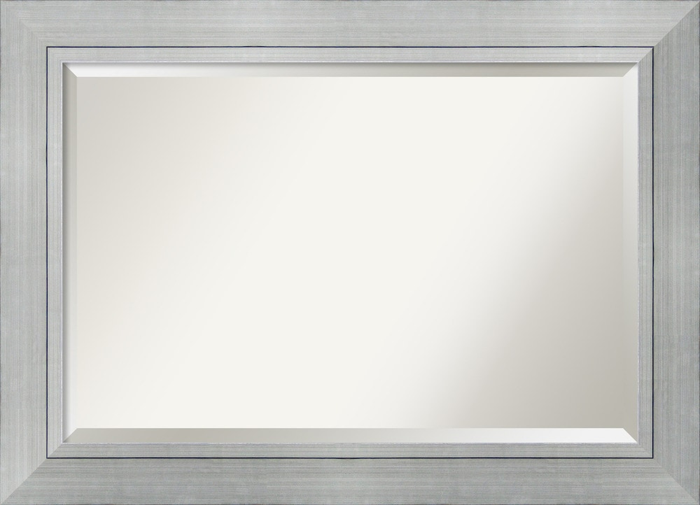 Amanti art romano silver wall mirror extra large 43 x 31 for Large silver wall mirror