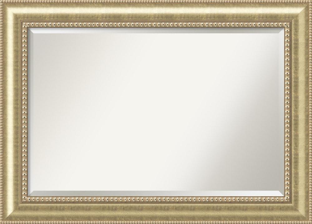amanti art astoria platinum wall mirror extra large 43 x. Black Bedroom Furniture Sets. Home Design Ideas