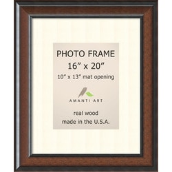 Amanti Art Cyprus Walnut Picture Frame16x20 Matted 10x13