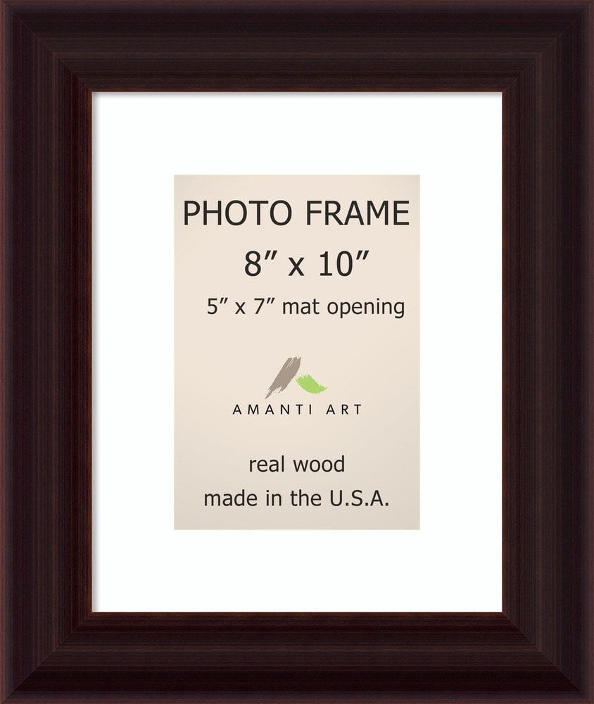 Amanti Art Espresso Picture Frame8x10 Matted To 5x7