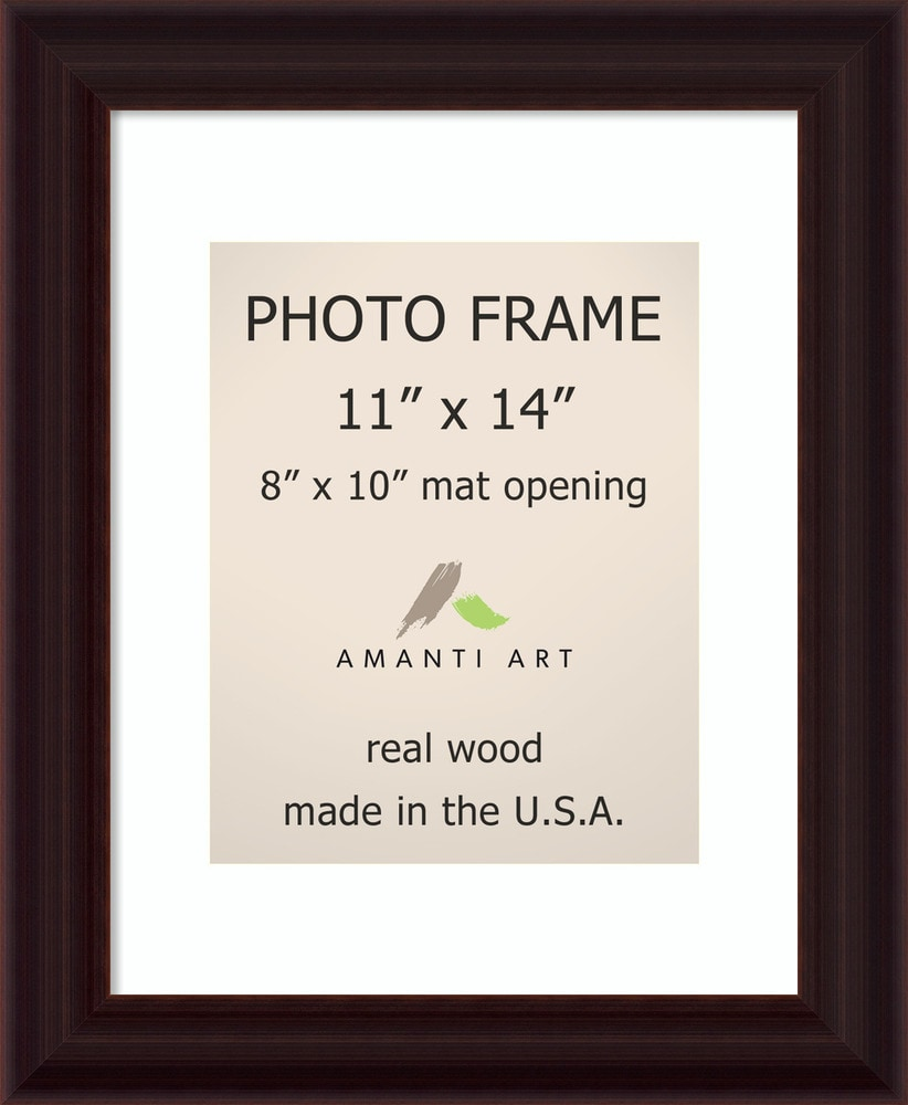 Amanti Art Espresso Picture Frame11x14 Matted To 8x10