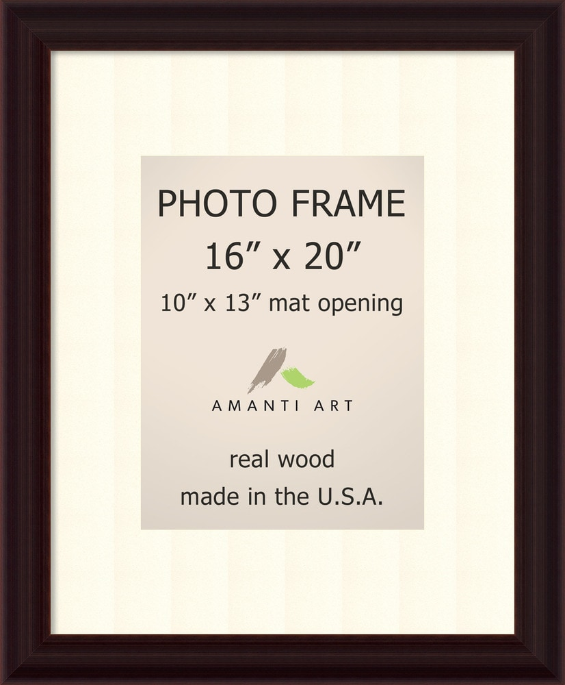 Amanti Art Espresso Picture Frame16x20 Matted To 10x13
