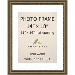 Amanti Art Boheme Silver Picture Frame14x18 Matted 11x14