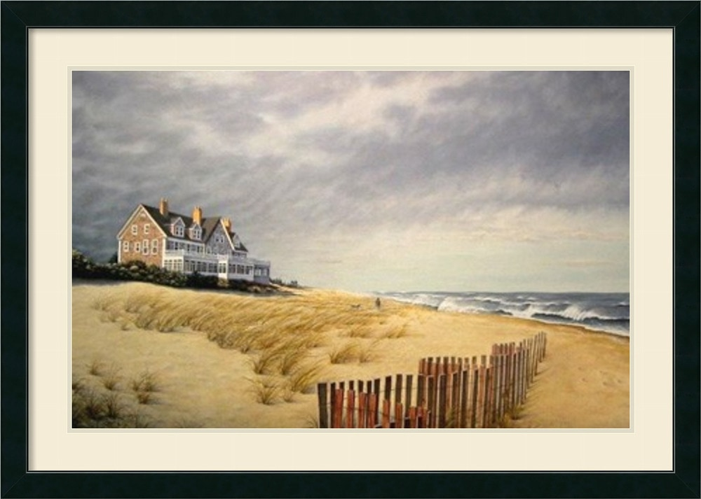 Amanti art daniel pollera 39 beach house 39 framed art print for Beach house prints