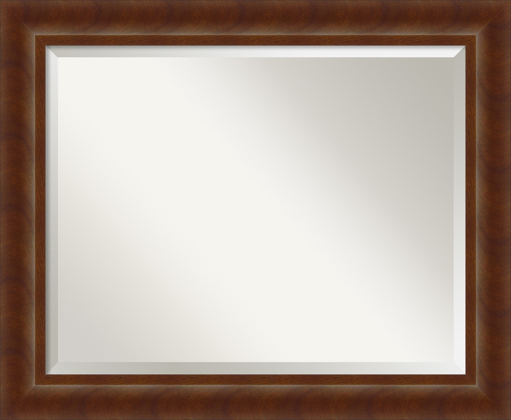 Amanti art quinta cherry wall mirror large 34 x 28 inch for Mirror 34 productions