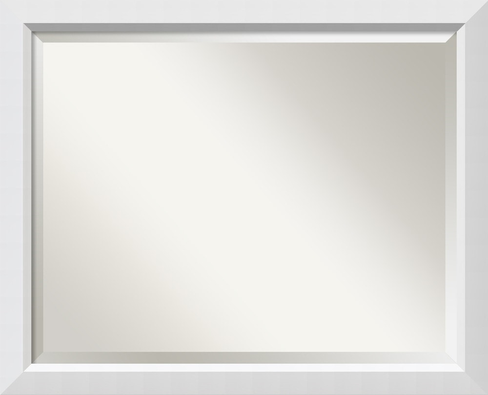 Amanti art blanco wall mirror large 32 x 26 inch framed for Large framed mirrors for walls