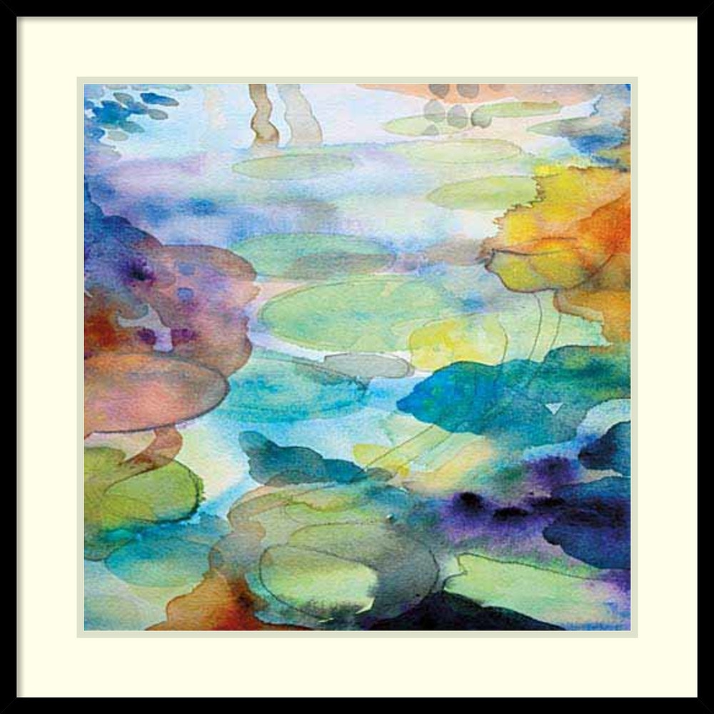 Amanti art helen wells 39 ornamental pond 2 39 framed art for Ornamental pond supplies