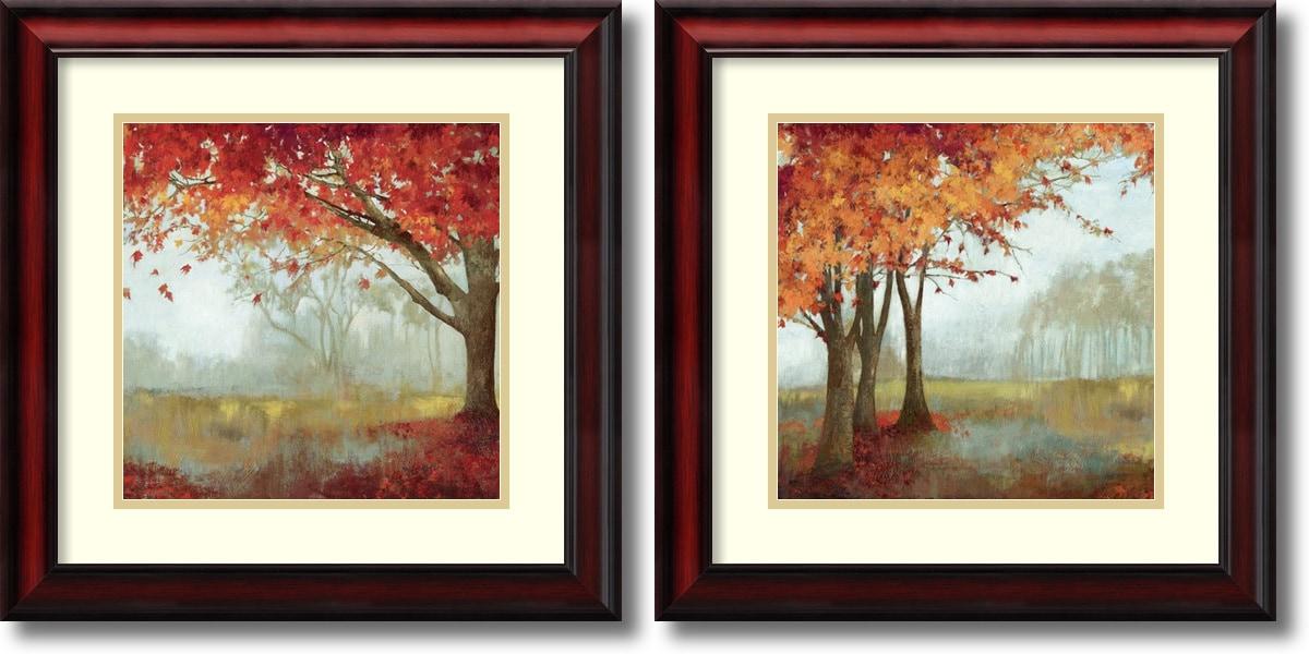 "Amanti Art - Asia Jensen 'A Sense of Space- set of 2' Framed Art Print 19x19"" Ea 150561101"