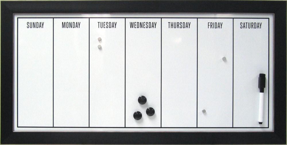 Dry Erase Weekly Calendar Board : Designovation framed magnetic dry erase board weekly