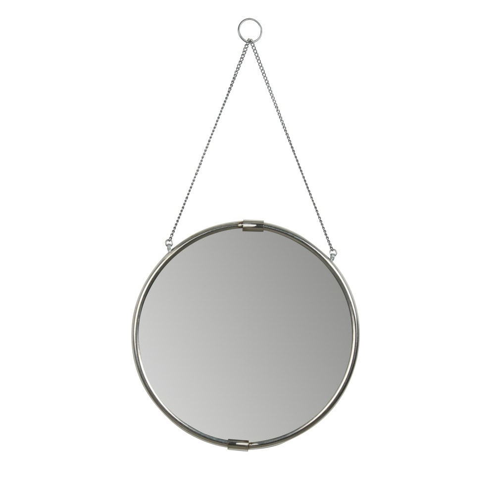 Kate and laurel brea round hanging mirror wall mirror 16 for Hanging mirror