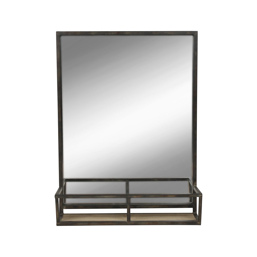 kate and laurel jackson metal wall mirror mirror with. Black Bedroom Furniture Sets. Home Design Ideas