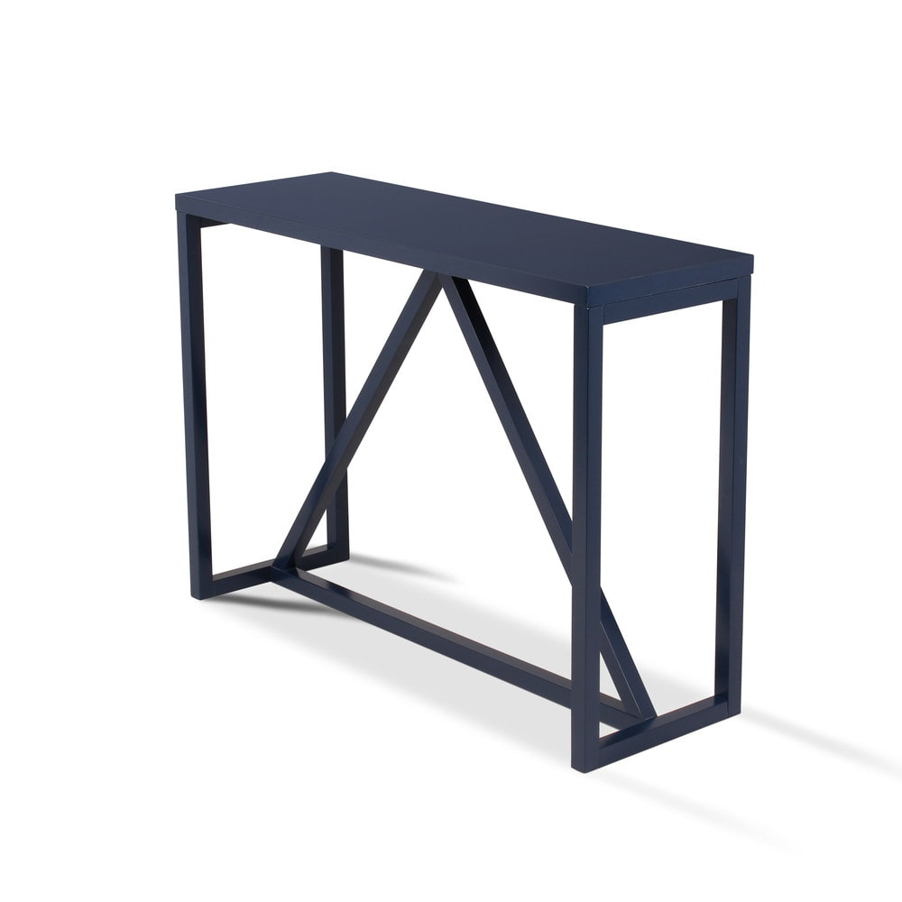 wood console table coffee tables side tables 1 navy blue 210050