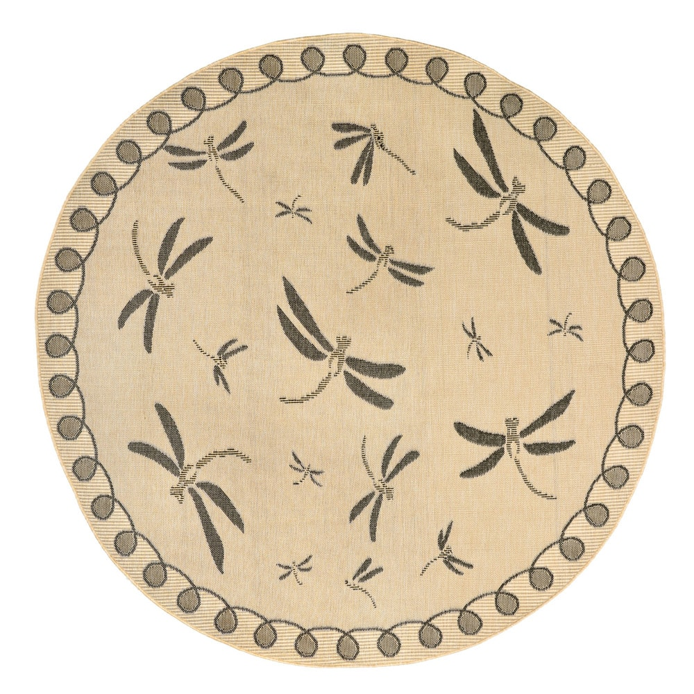 Maneck Terrace Collection Dragonfly Indoor Outdoor Rug
