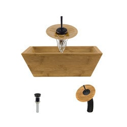 Polaris Sinks Bamboo Ensemble Model 151012071 Bathroom Sinks